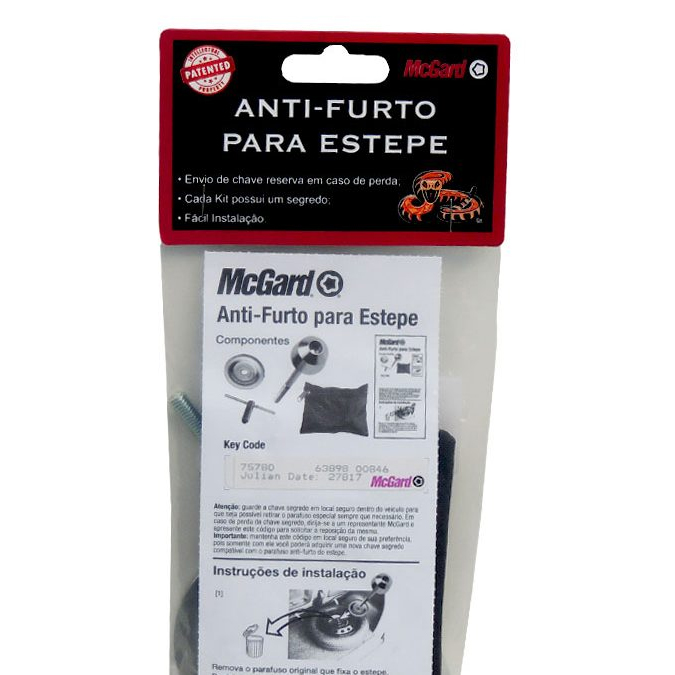 Kit Antifurto de Estepe Interno - Parafusos - Kit - vw -