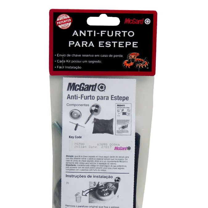Kit Antifurto de Estepe Interno -