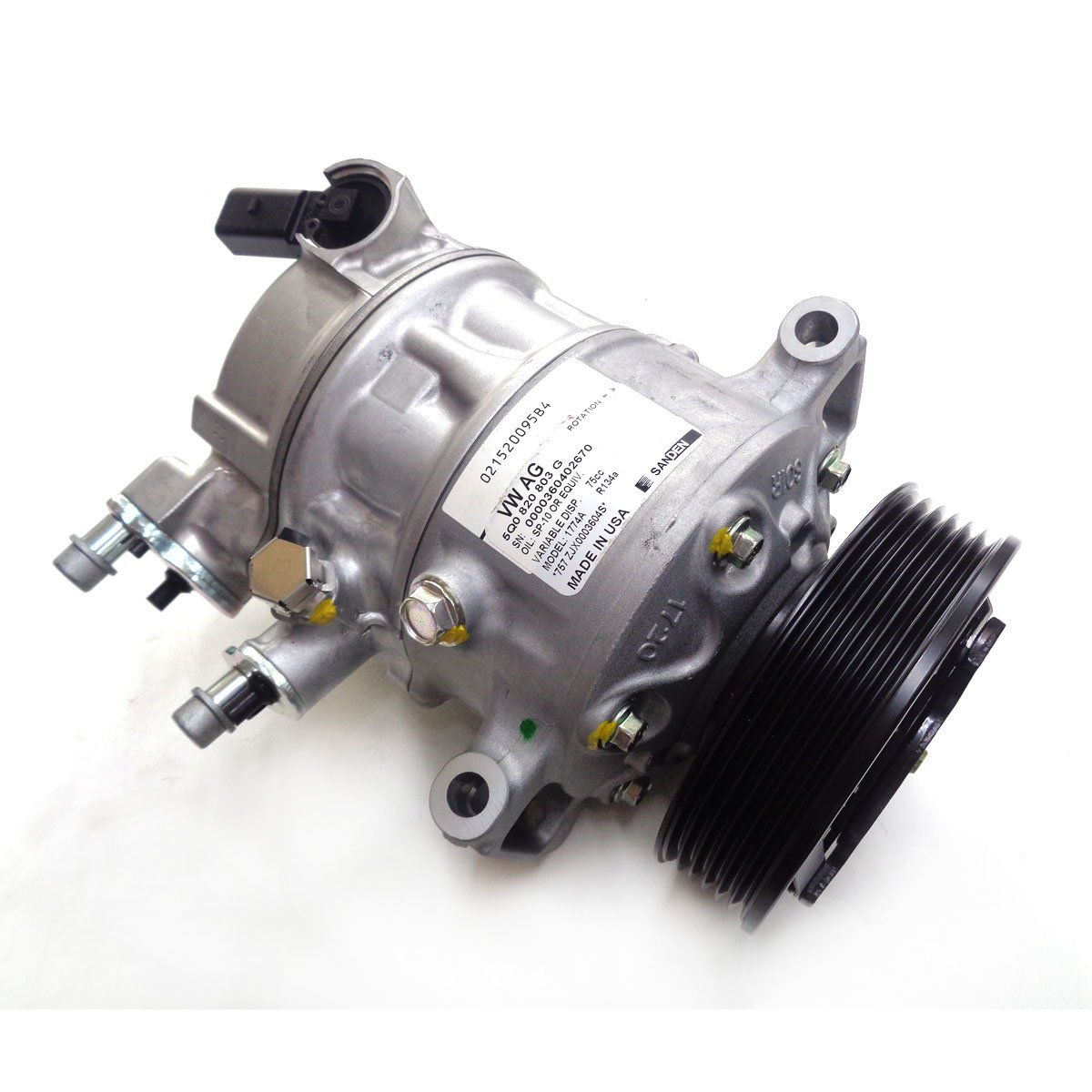 Compressor do Ar Condicionado Com Polia 6pk Vw - Ar Condicio